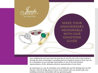 Make Your Anniversary Memorable with Our Gemstone Guide