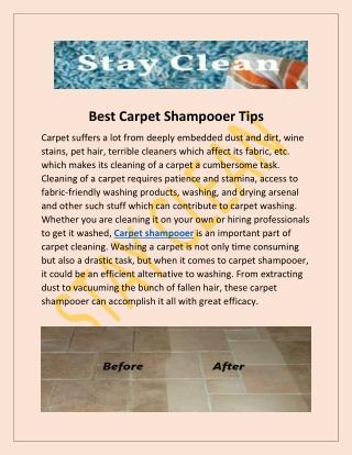 Best Carpet Shampooer Tips