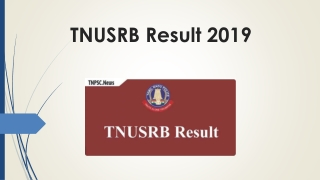 Check TNUSRB Result 2019 for 9795 SI & Constable Examination at here
