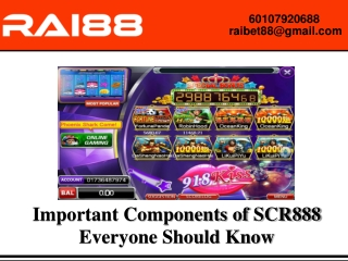 SCR888 Casino Games: Why You should Select the Online Gambling Base