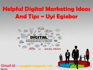 Uyi Egiebor - Strategy Digital Marketing Financial Plan