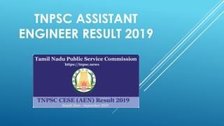 TNPSC Assistant Engineer Result 2019 - Tamil Nadu PSC CESE Cut Off