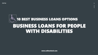 10 Best Business Loans Options for People with Disabilities