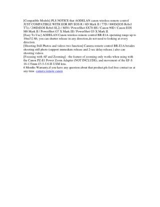canon remote shutter release