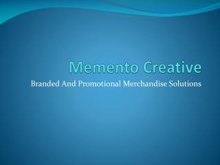 Memento Creative - Pens & Keyrings
