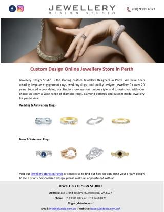 Custom Design Online Jewellery Store in Perth