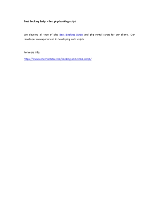 Best Booking Script - Best php booking script