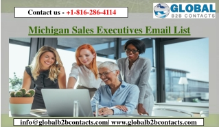 Michigan Sales Executives Email List