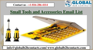 Small Tools and Accessories Email List