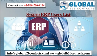 Syspro ERP Users List