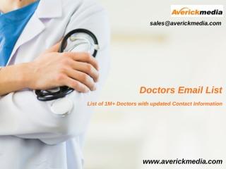 Doctors Email List | Doctors Mailing List
