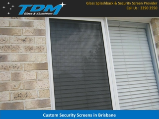 Custom Security Screens in Brisbane