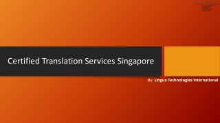 Searching for Certified Translation Services in Singapore