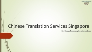 Find the Chinese Translation Services in Singapore