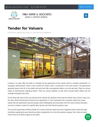 Tender for Valuers