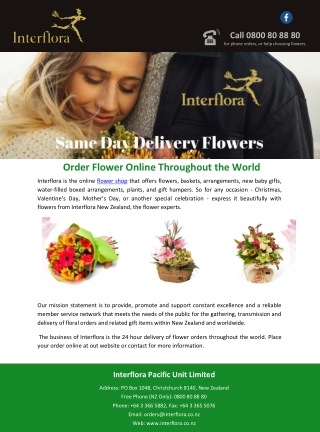 Order Flower Online Throughout the World