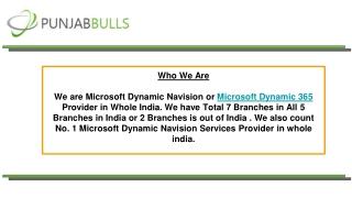 Microsoft Dynamics Navision - Punjab Bulls Technology Pvt Ltd