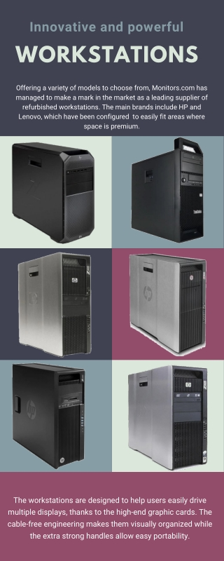 Innovative and powerful Workstations