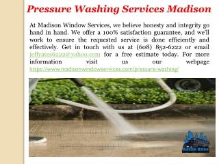 Pressure Washing Services Madison