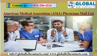 American Medical Association (AMA) Physicians Mail List