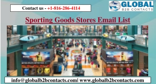 Sporting Goods Stores Email List