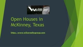 Open Houses in McKinney Texas