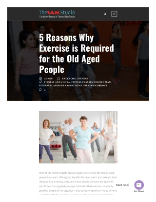5 Reasons Why Exercise is Required for the Old Aged People