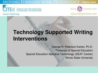 Technology Supported Writing Interventions