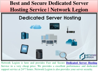 Best Dedicated Server and Website Hosting, SSL Certificate | Network Legion