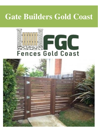 Gate Builders Gold Coast