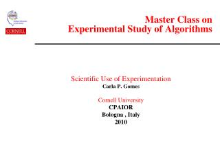 Master Class on  Experimental Study of Algorithms