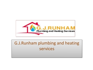 GJ Runham Offers Quality Commercial Plumbing Services