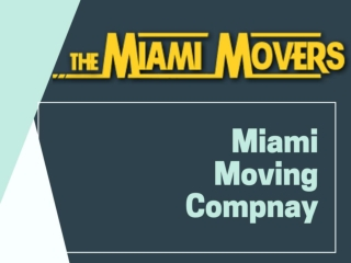Miami Moving Compnay