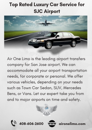 Top Rated Luxury Car Service for SJC Airport