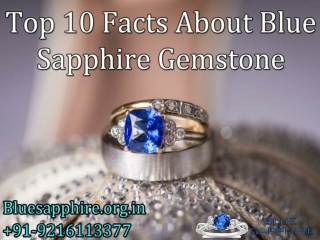 Top 10 Facts About Blue Sapphire