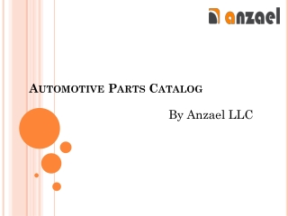 Automotive Parts Catalog | anzael LLC