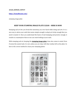 KEEP YOUR STAMPING IMAGE PLATE CLEAN – HERE IS HOW