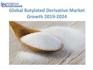 Global Butylated Derivative Market Growth Projection to 2024