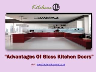 Advantages Of Gloss Kitchen Doors - Kitchen4UOnline UK.