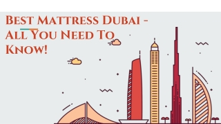 Best Mattress Dubai - All You Need To Know!