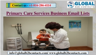 Primary Care Services Business Email Lists