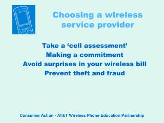 Choosing a wireless service provider