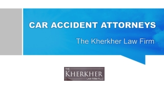 Car Accident Attorneys at The Kherkher Law Firm in Texas