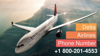 Delta Airlines Phone Number | 1 800-201-4553