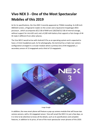 Vivo NEX 3 - one of the most spectacular mobiles of this 2019