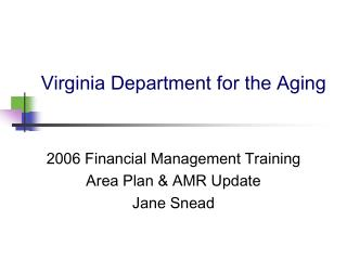 Virginia Department for the Aging