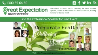 Find the Professional Speaker for Next Event
