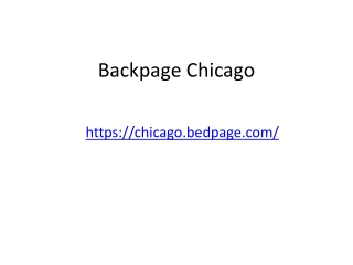 Chicago backpage