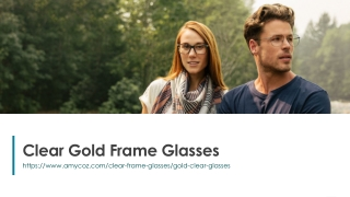 Clear Gold Frame Glasses