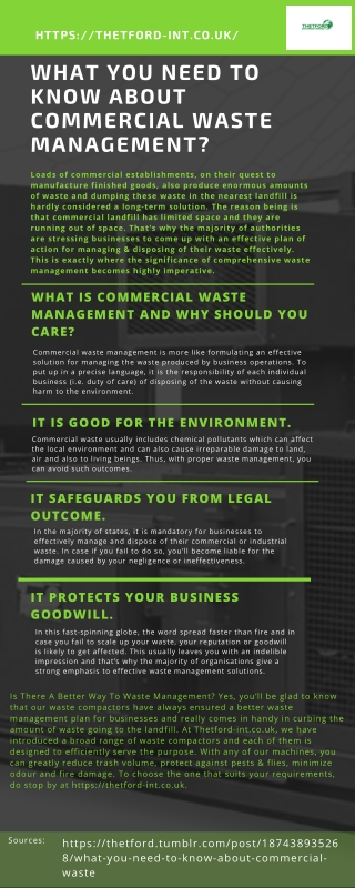 What You Need To Know About Commercial Waste Management?